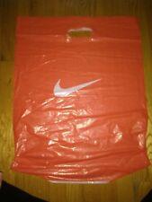 Authentic Nike Orange Plastic Shopping Bag Large Size