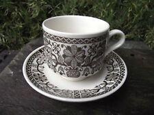 Vtg Retro Broadhurst Pottery Kathie Winkle Design Cup & Saucer Medina Pattern
