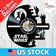 New Star Wars Death Star Droid Exclusive Vinyl Record Wall Clock Decor Cool Gift
