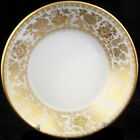"""WEDGWOOD GOLD DAMASK Fruit Saucer 5"""" NEW NEVER USED made in England"""