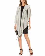 Cejon Women's Double-Draped Sparkle-Knit Wrap (Silver)