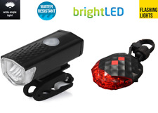 RICARICABILE USB anteriore e posteriore LASER 5 LUCI LED BICI Kit Set Per Mountain Road