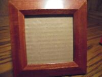 """Resin (Wood-Look) Square Photo Frame Holds 3""""x 3""""Wall Mount or Free-Standing 62"""