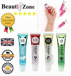 NK Lip Gel Moisturizing Clear, Bubblegum, Strawberry, Coconut, LipGloss 15ml