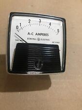 Ge General Electric Type Aw 91 Ac Amperes 0 5 Panel Meter Nos