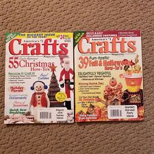 Lot of 2 Vintage Crafts Magazines from 1996 Halloween and Christmas