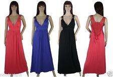 Unbranded Women's No Pattern Strappy, Spaghetti Strap Maxi Dresses