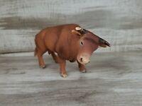 Schleich Brown BULL W/ HORNS COW Retired Farm Animal figure
