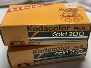 Vintage 2 Rolls Kodak 126 Kodacolor Film Official Olympics Logo NOS Exp 02/1990