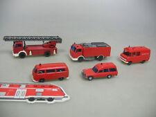 aa801-0, 5 #5x Wiking H0 Fire Brigade /FW: MERCEDES-BENZ MB+ Volkswagen VW