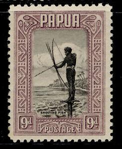 AUSTRALIA - Papua GV SG138, 9d black & violet, M MINT. Cat £12.
