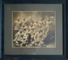 Wilmington Delaware young men athletes football team framed antique sport photo