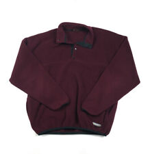 VTG Russell Athletic Burgundy 1/4-Snap Button Fleece Pullover USA Made Men's 2XL