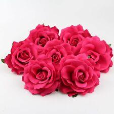 "10-100Pcs Silk Artificial 4"" Fake Rose Flower Head Wedding Garden Decor Rose red"
