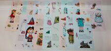 Large Lot of 21 Uncut Paper Dolls with Extra 7 Cut Paper Dolls & Accessories