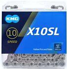 KMC X10SL Silver 10-Speed Super Light MTB/Road Bike Chain 116L fit Shimano SRAM