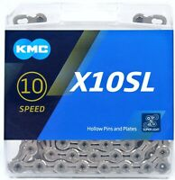 KMC X10SL SILVER 10-Speed Bike Chain XSP 116L fits Shimano SRAM Campagnolo Campy
