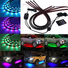 7 Color LED Strip Under Car underglow Underbody Neon Lights Kit Extension Wire
