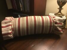 """Waverly-General Store-Bolster pillow-12""""x 5.5""""-Coordinate For Vintage Rose-NICE!"""