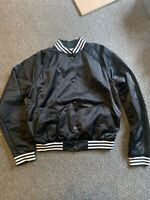 PAUL SMITH Pink SILKY BLACK Bomber Jacket SIZE SMALL Rare BOWLING