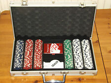 300 Piece Poker Chip Set in Aluminium Case - Unused