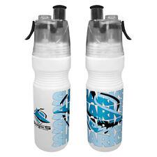 Cronulla Sharks NRL Drink Bottle & Water Mister Misting Sport School Work Gift