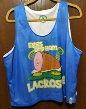 Cool Blue Eggs & Ham Lacrosse Jersey Man S/M