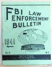 SEP 1941 FBI LAW ENFORCEMENT BULLETIN J EDGAR HOOVER WANTED POSTER FREE SHIPPING