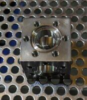 "new mdc vacuum 6 way conflat cube 1.33"" flange size - mks lesker varian hps amat"