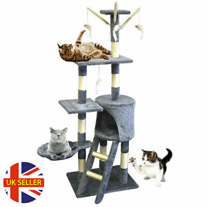 Cat Tree Tower Scratching Post Climbing Kitten Toy Scratcher Activity Centre UK