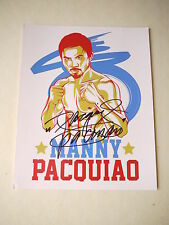 Manny Pacquiao genuine signed Boxing 12x8 Photo - Pac Man