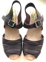 T Strap Lotta From Stockholm Clogs Color Eggplant