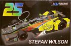 2016 STEFAN WILSON signed INDIANAPOLIS 500 PHOTO CARD POSTCARD INDY CAR justin