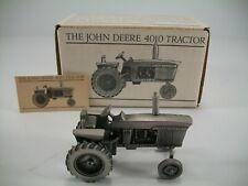Spec Cast John Deere Pewter 4010 Tractor JDM-001 - Original Packaging 1 Paper
