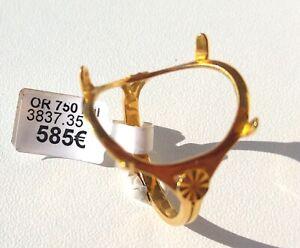 Bague neuve porte pièce Louis d'or 10 Francs Or jaune 18 Carats. Femme ou Homme