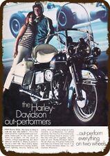 1969 HARLEY-DAVIDSON ELECTRA GLIDE MOTORCYCLE Vintage Look Replica Metal Sign