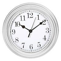 Wanduhr Küchenuhr Uhr Nostalgie Landhaus antik Classic Büro 22 cm Weiss Rund NEU
