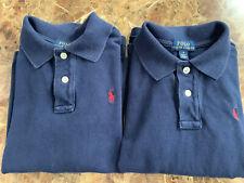 Ralph Lauren Polo Longsleeve Uniform T Shirt Sz 6 Navy Blue 2 Pc