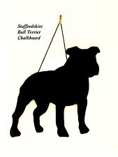 "Staffy / Staffie Dog Gift-Unique 12"" Handmade Dog Breed shaped Chalkboard"
