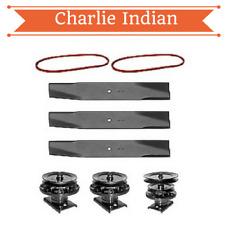 "44"" Mower Deck Rebuild Kit Fits GT60000 Craftsman Blades Spindles Pulleys (141)"