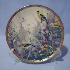 Lenox Golden Splendor Gold Finches Collector Plate 1992 Nature's Collage
