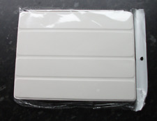 FLIP COVER CASE FOR IPAD 2, WHITE FRONT, GREY BACK, BRAND NEW