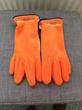 Polo Ralph lauren Orange/yellow Fleece Gloves Ladies Women's Unisex