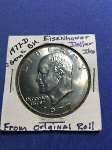 1977 D $1 Eisenhower IKE Dollar Gem BU Uncirculated Mint From Original Roll
