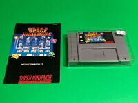 💯 WORKING 🔥 SUPER NINTENDO SNES GAME 🔥 ARCADE CLASSIC SPACE INVADERS + MANUAL