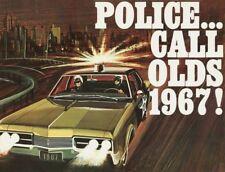 1967 Oldsmobile Delta 88 POLICE Car, Refrigerator Magnet, 40 MIL Thick
