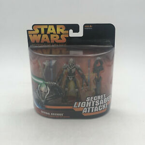 STAR WARS General Grievous Secret Lightsaber Attack ROTS 2006 Figure Hasbro USA