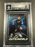 KYLIAN MBAPPE 2018 DONRUSS #9 OUT OF THIS WORLD SILVER ROOKIE INSERT BGS 9
