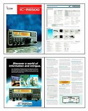 "REPLICA of ICOM IC-R8500 BROCHURE 4 x 8 1/2x11"" PAGES PRINTED 11x17"" DUAL SIDED"