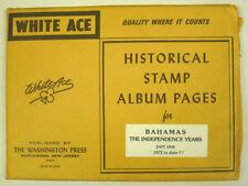 WHITE ACE - BAHAMAS PAGES PART 1 - 1973 / 1987 -  NEW       #WA-BAP1